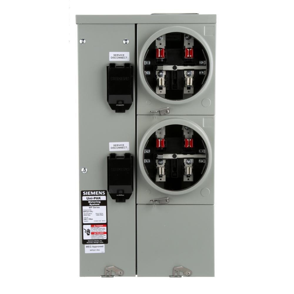 2 meter sockets metering \u0026 temporary power the home depot Meter Socket Wiring Diagram uni pak 2 gang 125 amp tenant main breaker meter socket