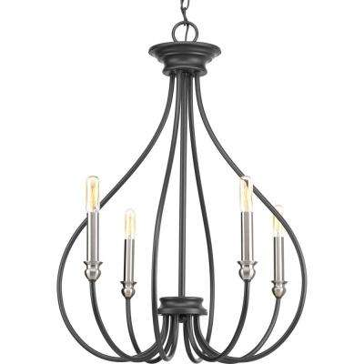 Whisp Collection 4-light Graphite Chandelier