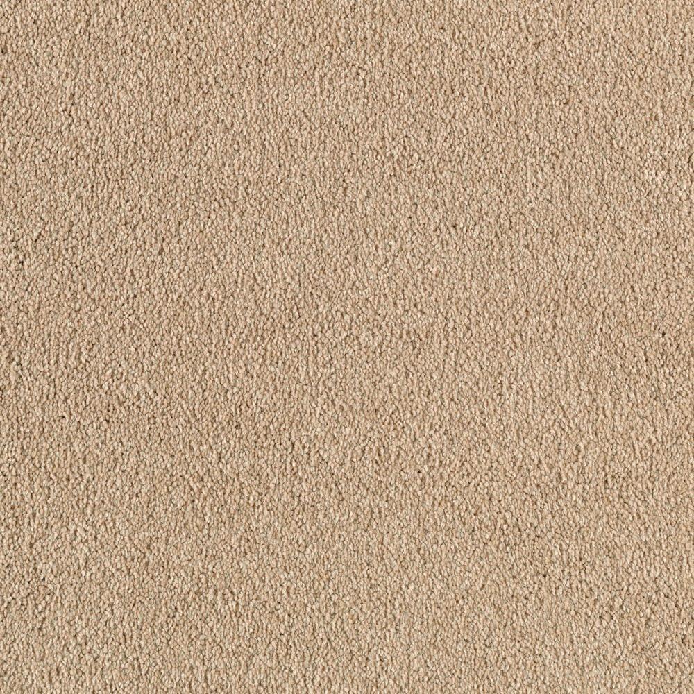 Platinum Plus Stunning - Color Mocha Foam 12 ft. Carpet