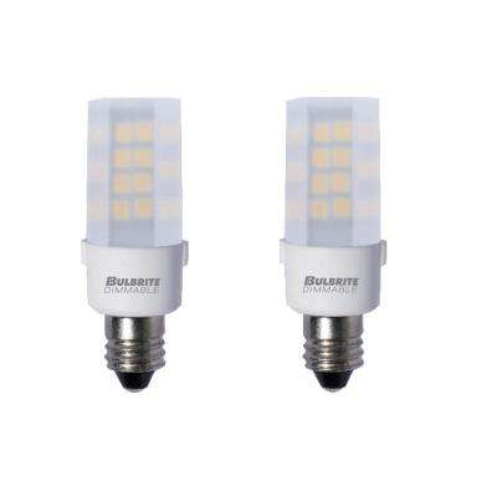 35-Watt Equivalent T4 Dimmable Mini-Candelabra LED Light Bulb Warm White (2-Pack)