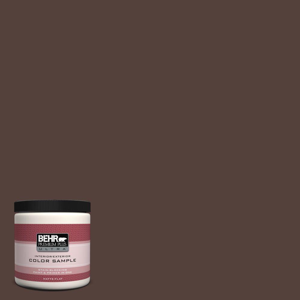 BEHR Premium Plus Ultra 8 oz. #PPF-51 Dark Walnut Interior/Exterior Paint Sample