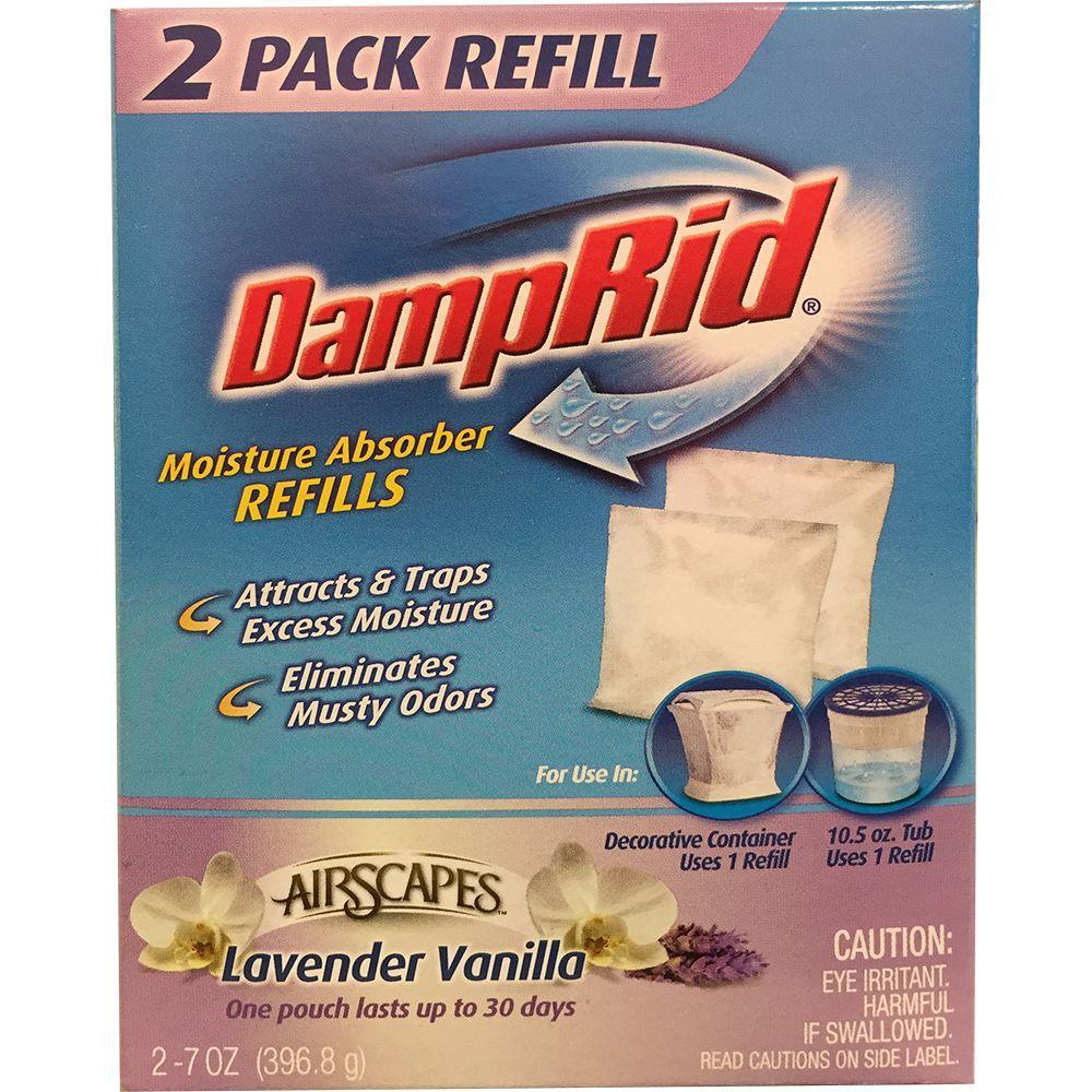 Damprid 2 7 Oz Airscapes Lavender Vanilla Scent Refill Pouches
