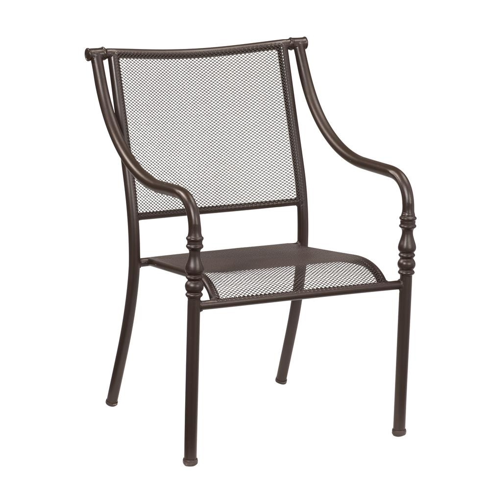 Hampton bay mix and match stackable sling outdoor dining chair in cafe fcs00015j w the home depot