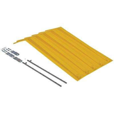 Yellow Poly Lid for Style H Size 0.5 cu. yd. Hopper