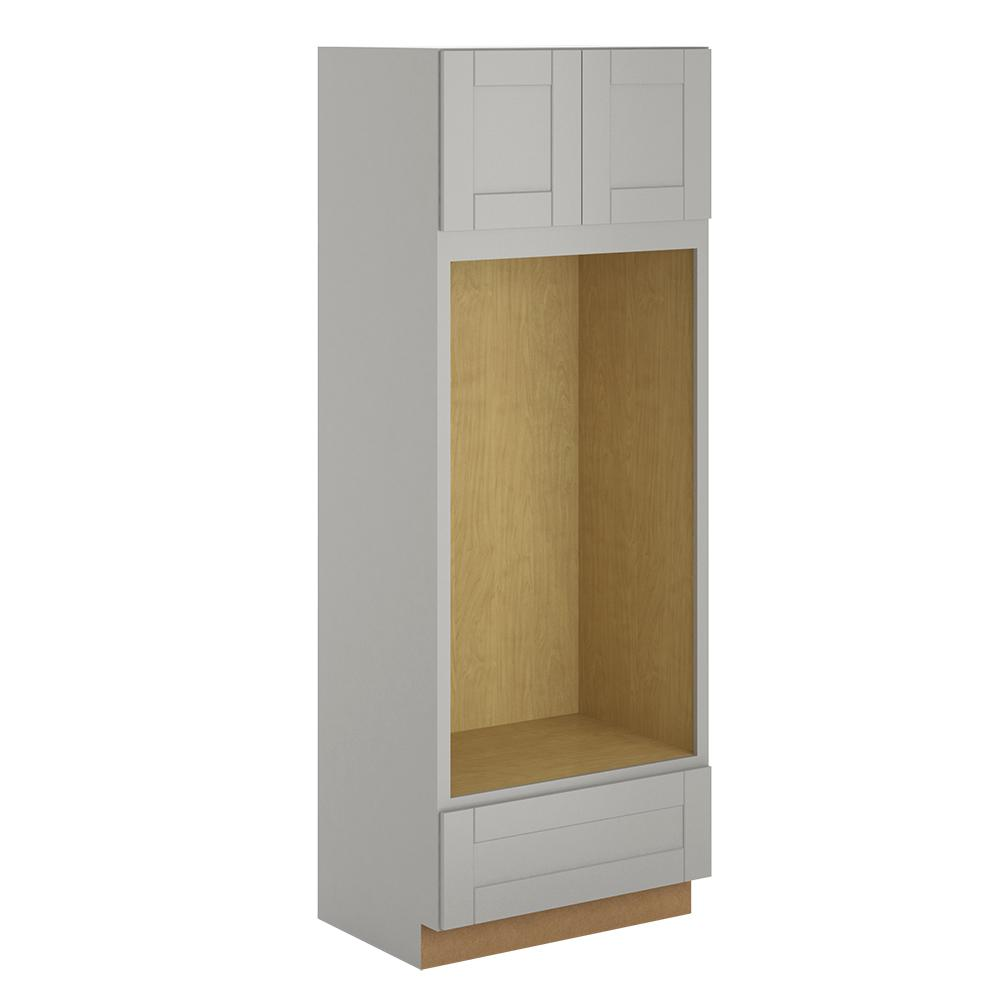 Princeton Shaker Assembled 33x90x24 in. Pantry/Utility Double Oven Cabinet in