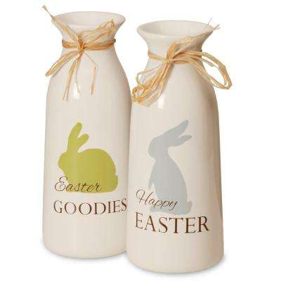 White Bottles with Easter Goodies