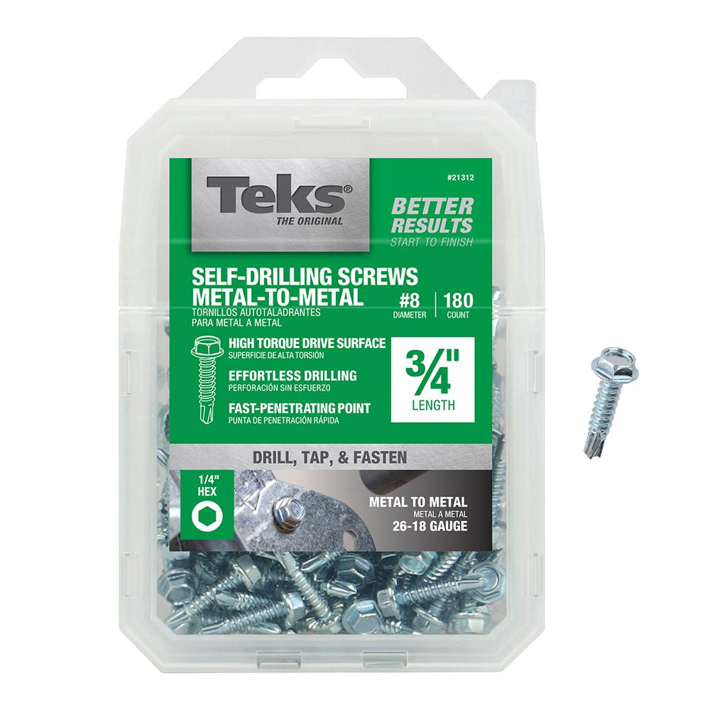 With Storage Box 120 Pack Size Hex Head Self Drilling Tapping Screw Set