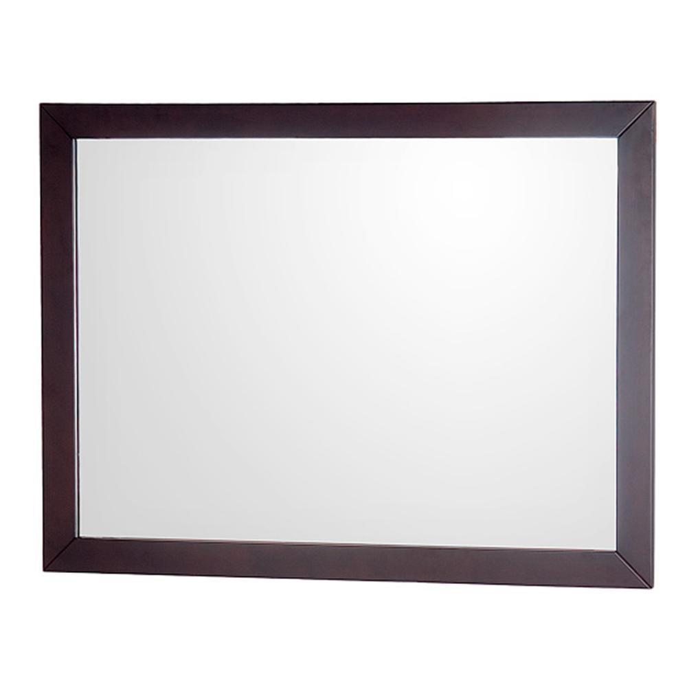 Abba 46 in. W x 33 in. H Framed Wall Mirror in Espresso