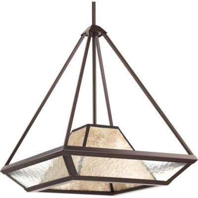 Collins Collection 1-Light Antique Bronze Foyer Pendant with Water Glass