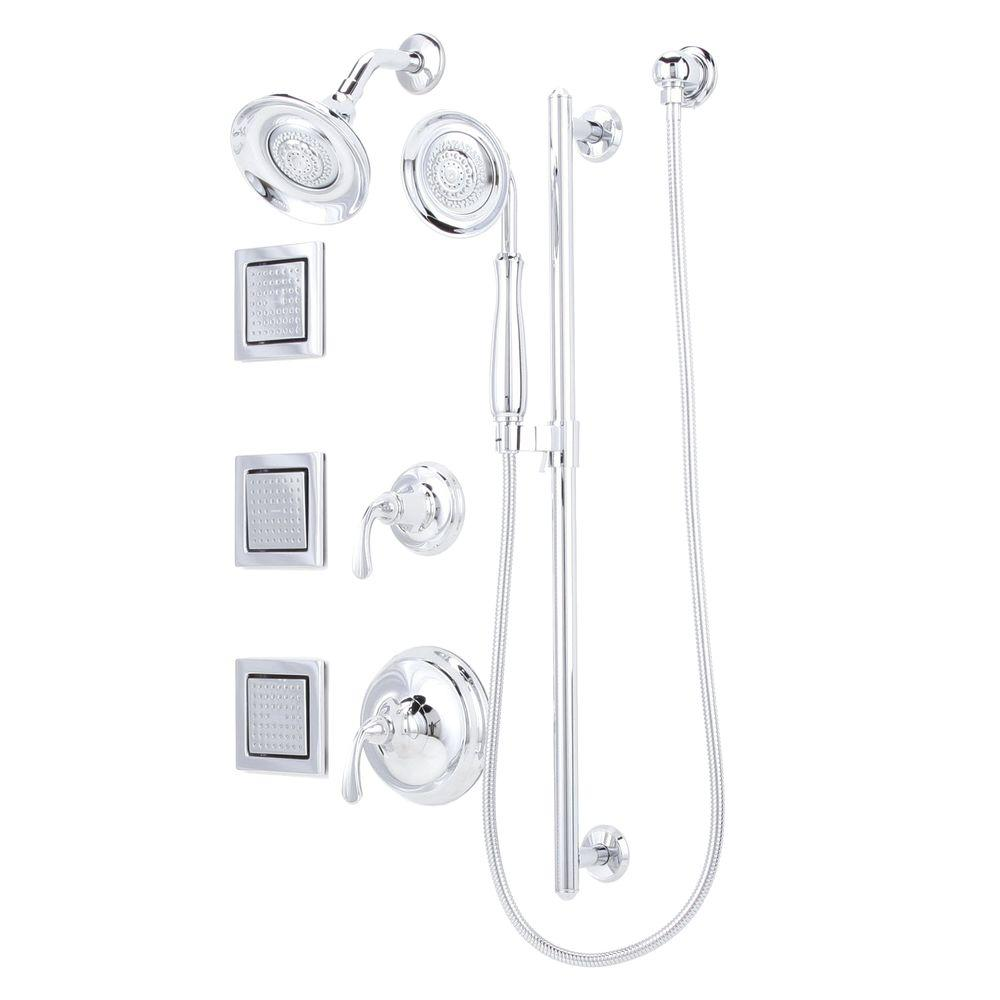 KOHLER Forte Luxury Performance 4-Spray Handshower and Showerhead Combo Kit in Polished Chrome-DISCONTINUED
