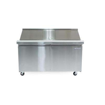 60 in. W 15 cu. ft. 2-Door Mega Top Sandwich/Salad Prep Table in Stainless Steel