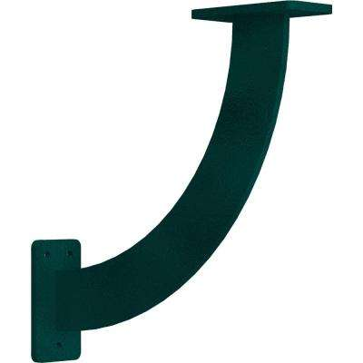 2 in. x 11 in. x 11 in. Steel Hammered Deep Green Bradford Bracket