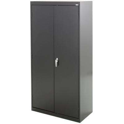 Classic Series 36 in. W x 72 in. H x 24 in. D Combination Storage Cabinet with Adjustable Shelves in Black