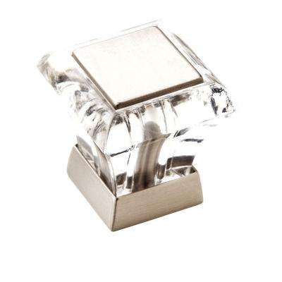 Abernathy 1-1/16 in (27 mm) Length Clear/Satin Nickel Cabinet Knob