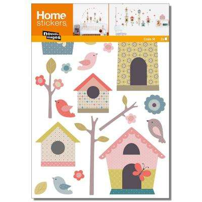 Multicolor Houses of Birds/Kids Home Sticker