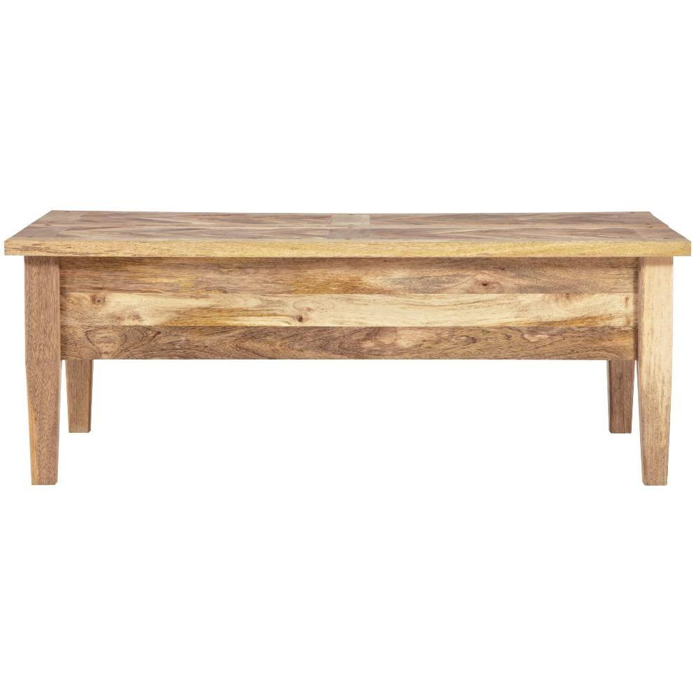 Home decorators collection parquetry natural coffee table 9528900950 the home depot Collectors coffee table