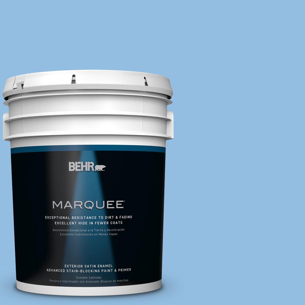 5-gal. #P520-3 Toile Blue Satin Enamel Exterior Paint