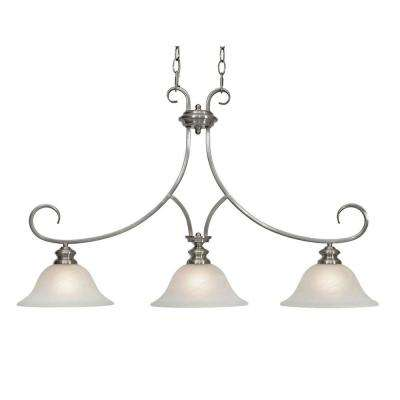 Lancaster Collection 3-Light Pewter Island Light