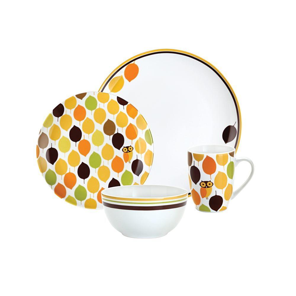 Rachael Ray Little Hoot 4-Piece Dinnerware Set