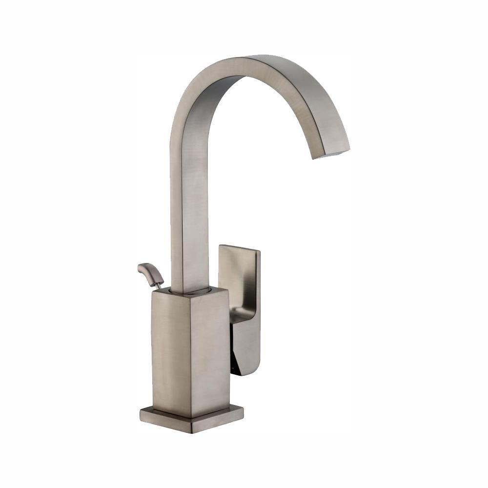 Glacier Bay Farrington Single Hole Single-Handle High-Arc Bathroom Faucet in Brushed Nickel