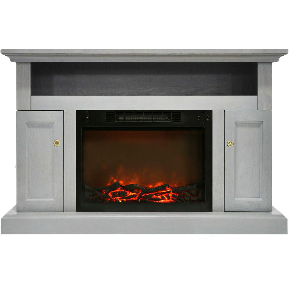 Sorrento Electric Fireplace with 1500-Watt Log Insert and 47 in. Entertainment