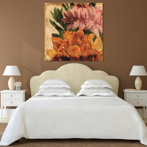 Empire Art Direct ''Vibrant Antique Lillies'' Frameless Free Floating Tempered