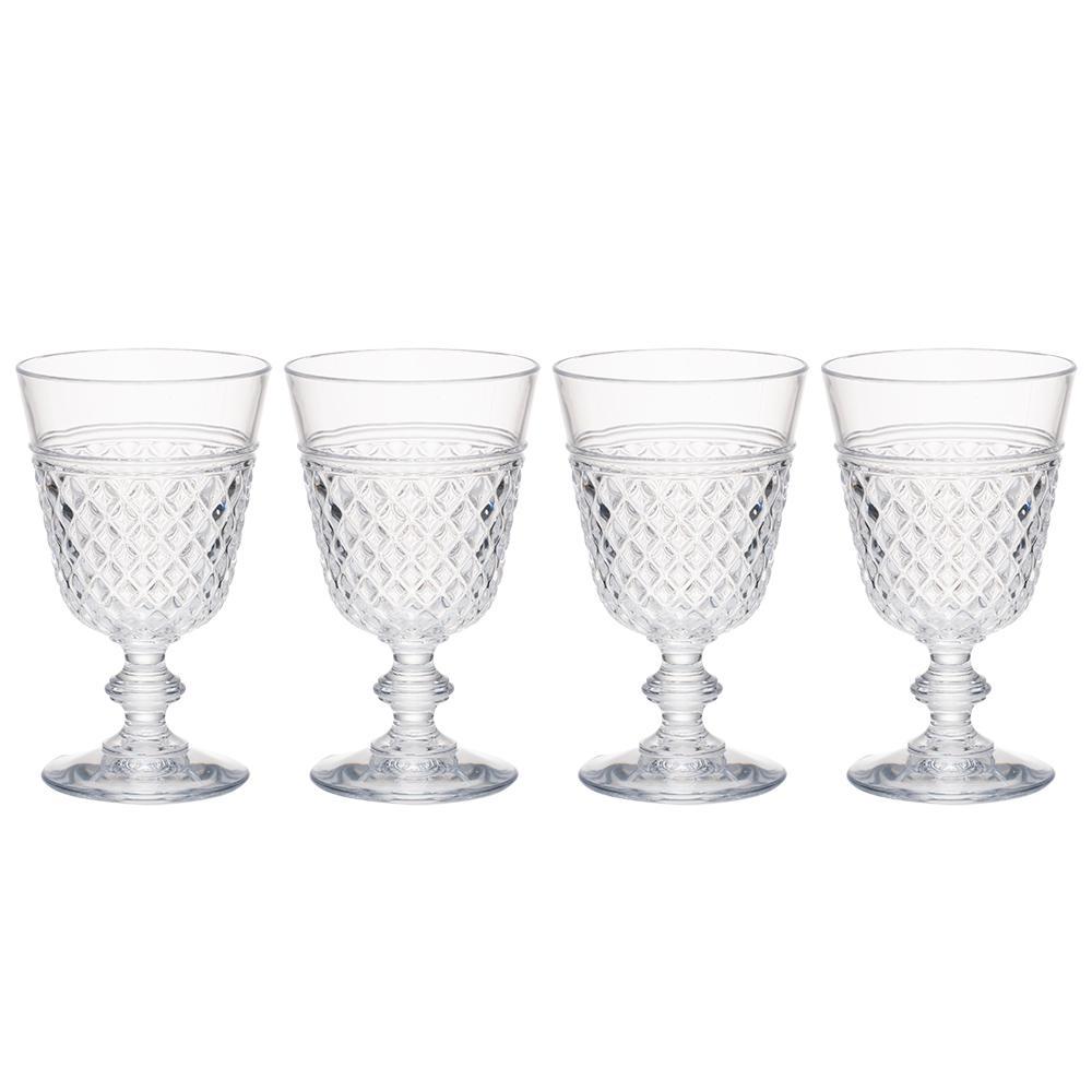 Hudson 4-Piece Tritan Acrylic 14 oz. Goblet Set