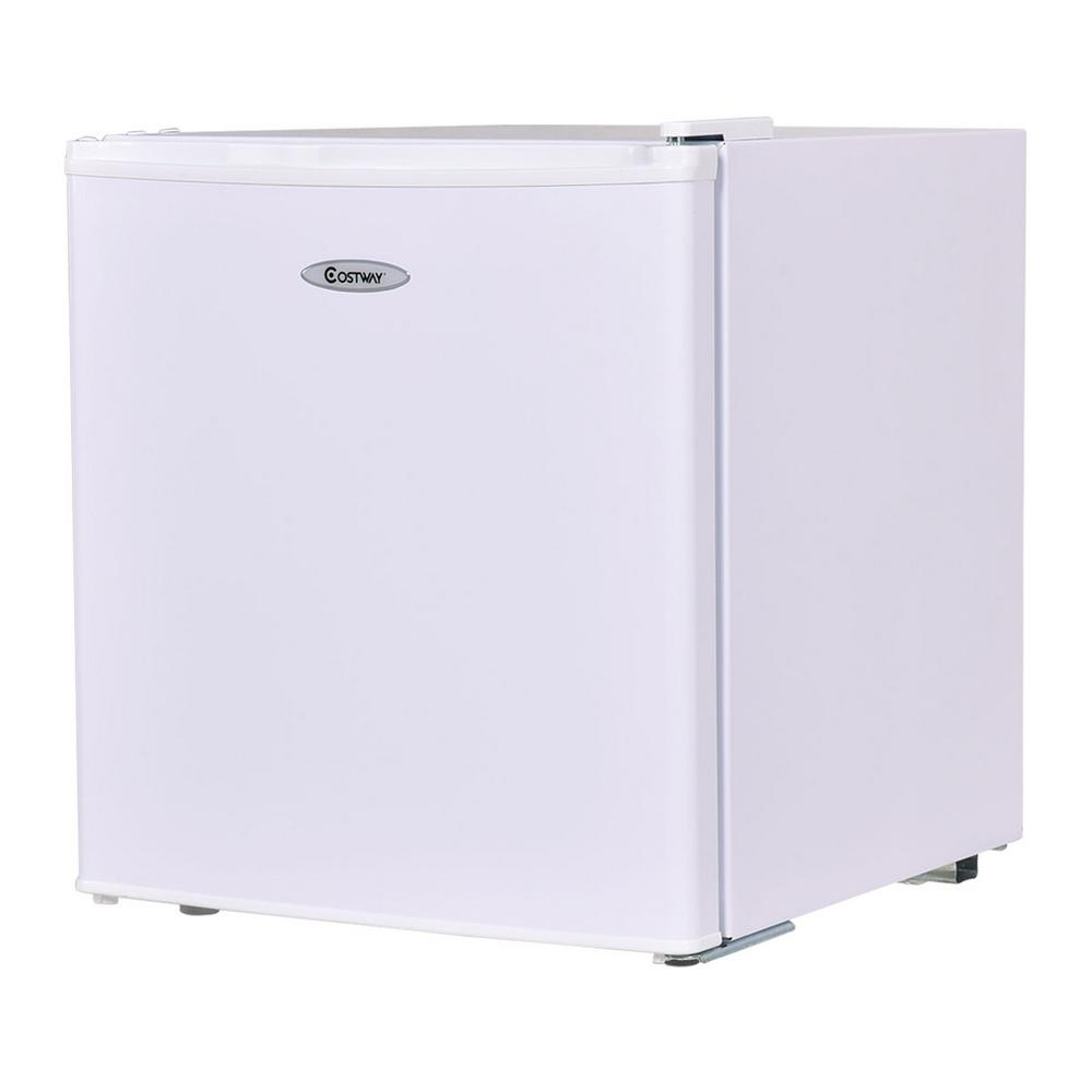 Costway 1.7 cu. ft. Mini Fridge Small Freezer Cooler Fridge Compact Unit in White