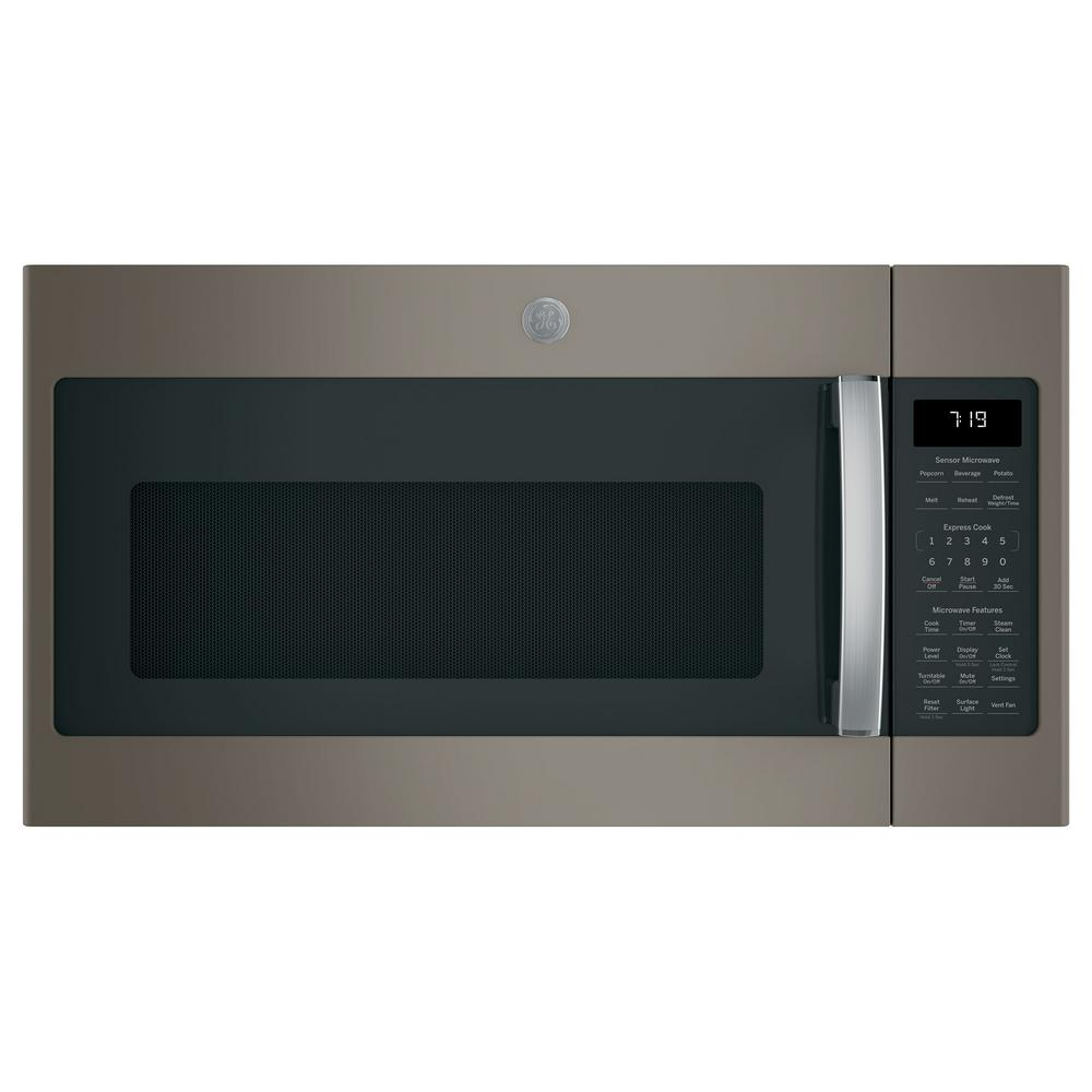 GE 1.9 cu. ft. Over the Range Microwave in Slate with Sensor Cooking, Fingerprint Resistant