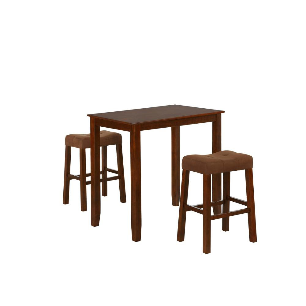 Jude Oak 3-Piece Solid Wood Dining Set Bar Stools (Set of 2 Stools)