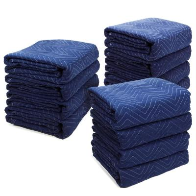 72 in. L x 80 in. W 45 lbs. Heavy-Duty Non-Woven Padded Moving Blankets (12-Pack)