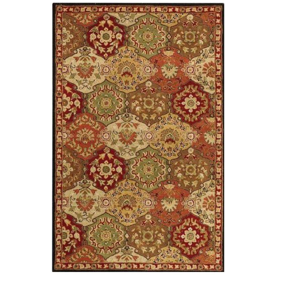 Home Decorators Collection Grandeur Red/Multi 9 ft. x 12 ft. Area Rug