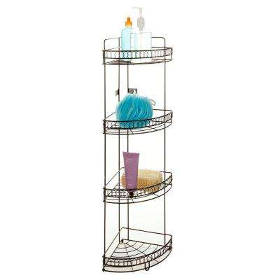 4-Tier Corner Bath Shelf in Curls Design