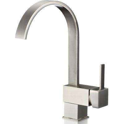 Single-Handle Bar Faucet in Brushed Nickel
