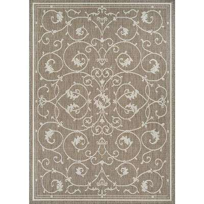 Recife Veranda Champagne-Taupe 8 ft. x 11 ft. Indoor/Outdoor Area Rug