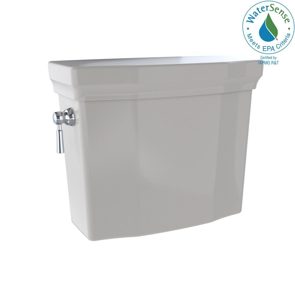 Promenade II 1.28 GPF Single Flush Toilet Tank Only in Sedona Beige