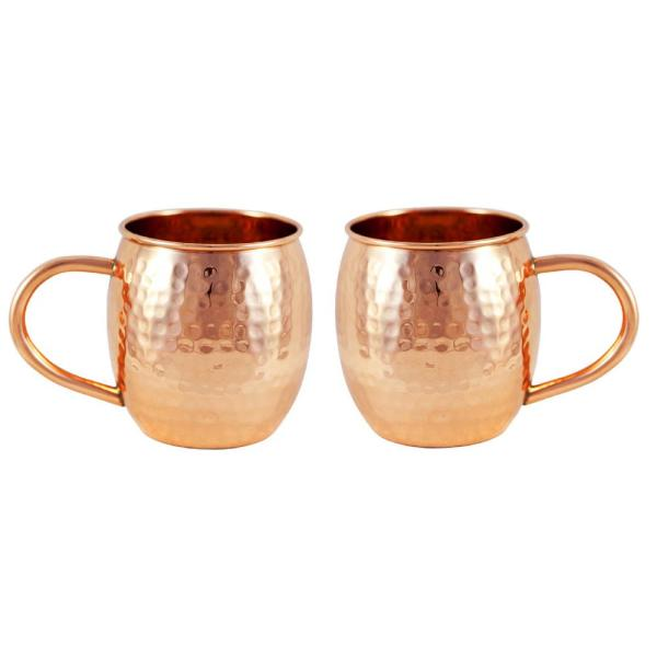 Alchemade Copper Hammered Barrel Mug (Set of 2) ALCH2019-2