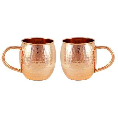 Copper Hammered Barrel Mug (Set of 2)