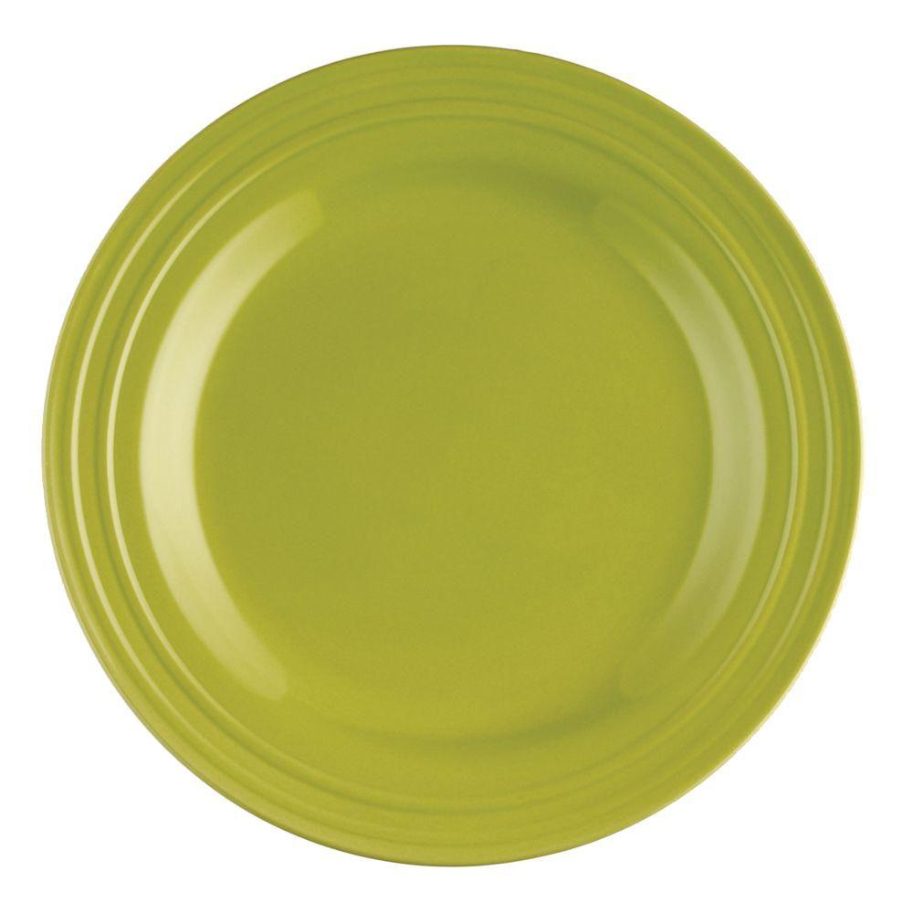 Rachael Ray Double Ridge 4-Piece Dinner Plate Set in Green