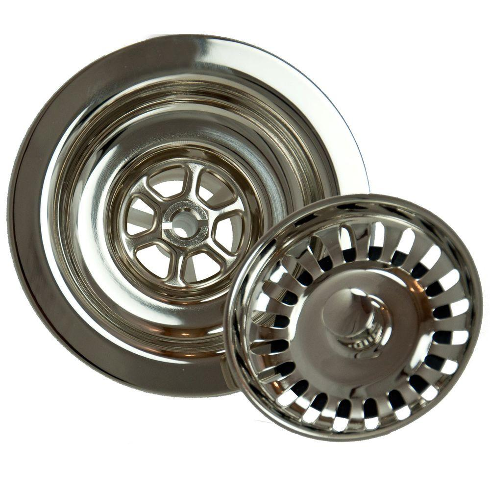 null 4.5 in. Kitchen Strainer in Polished Nickel