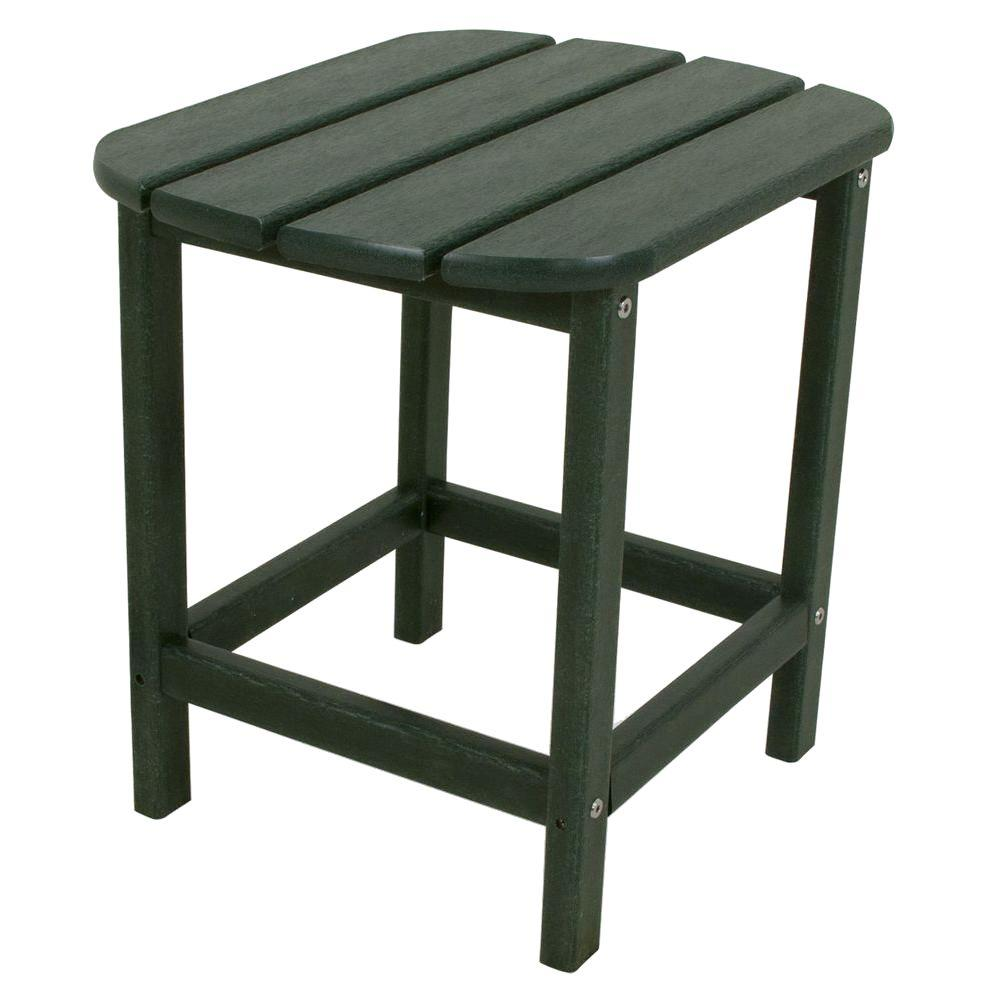 South Beach 18 in. Green Patio Side Table
