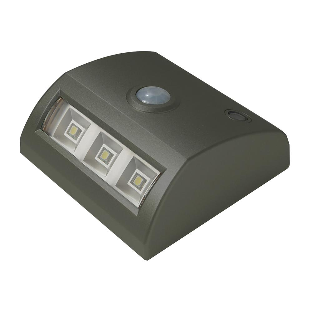 Light It 3 Light Bronze Motion Activated Indoor Outdoor Integrated 3 Led Landscape Path Light