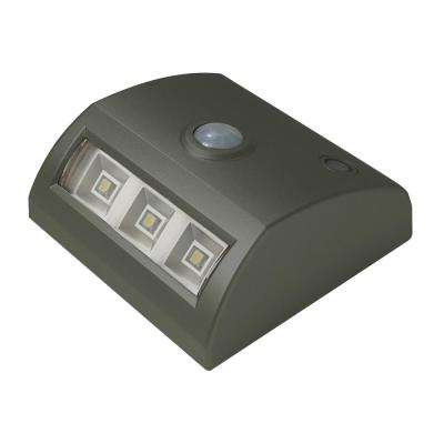 3-Light Bronze Motion Activated Indoor/Outdoor Integrated 3-LED Landscape Path Light