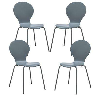 Gray Petal Dining Chair (Set of 4)