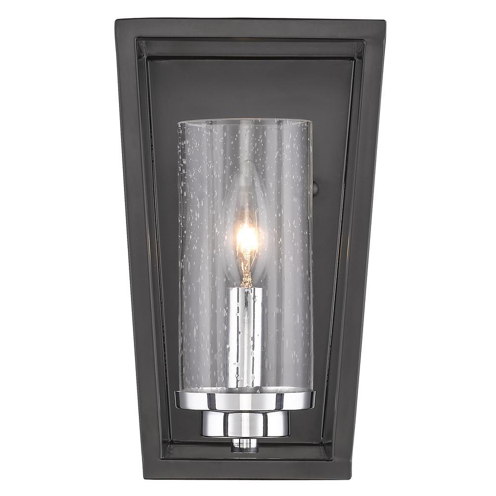 Mercer Black 1-Light Bath Light