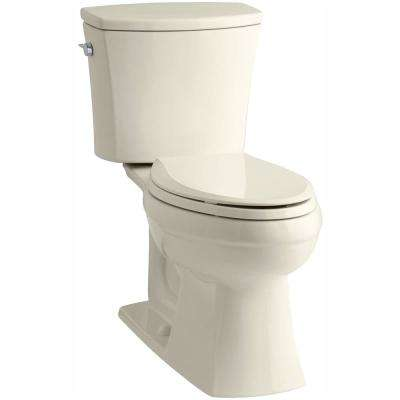 Kelston Comfort Height 2-piece 1.28 GPF Single Flush Elongated Toilet with AquaPiston Flushing Technology in Almond