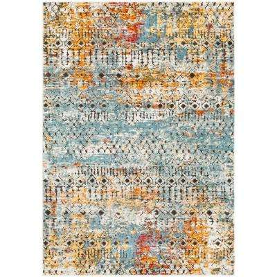 Caius Multi-color 3 ft. 11 in. x 5 ft. 11 in. Moroccan Area Rug