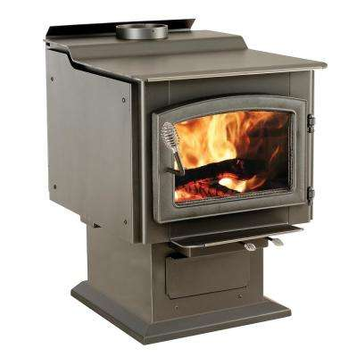 3,200 sq. ft. EPA Certified Pedestal Wood Burning Stove with Blower