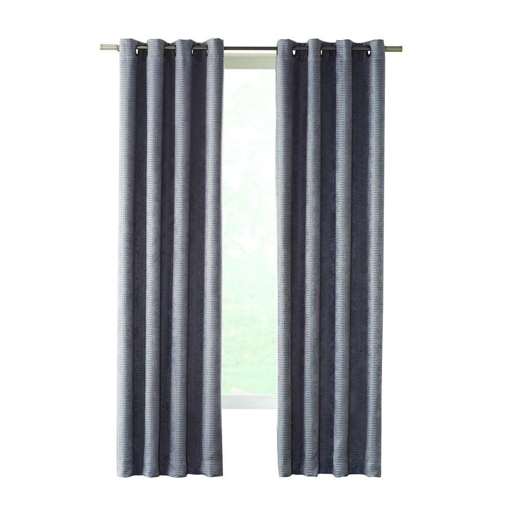 Home Decorators Collection Gray Cooper Grommet Room Darkening Curtain - 50 in. W x 63 in. L