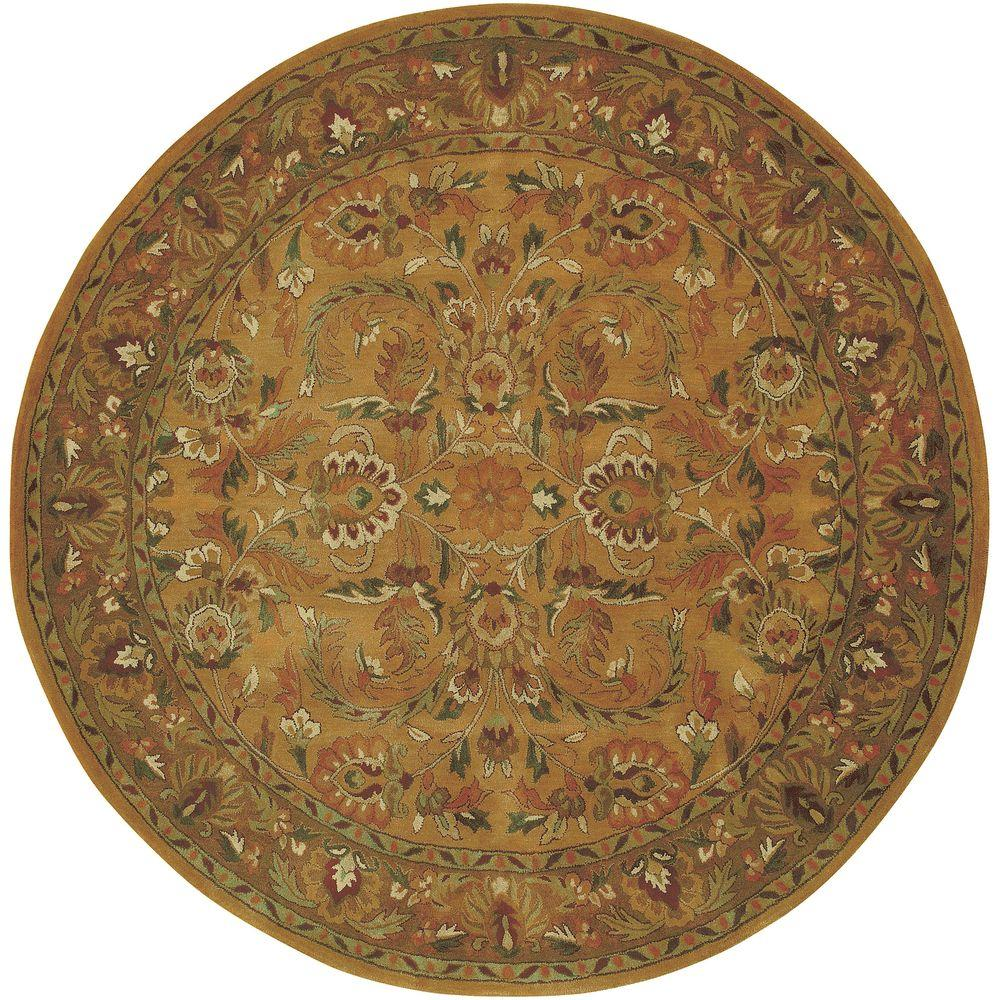 Artistic Weavers Lievano Gold 8 ft. Round Area Rug-DISCONTINUED